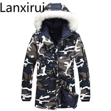 купить 2018 Hot Sale Winter Jacket Men Fashion Casual Fur Hooded Coats Plus Size 5xl Men 'S Army Military Jackets Warmth Snow Coats дешево