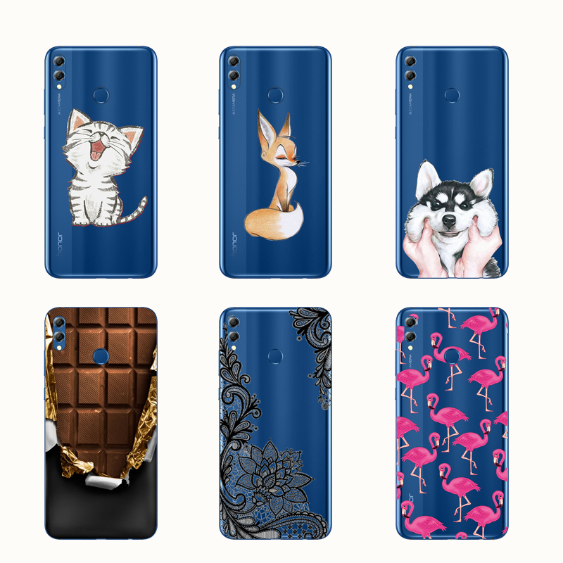 Soft For Huawei Honor 8X Case Silicone Cover Bumper Honor 8X Phone Case TPU Funda For Huawei Honor 8X 8 X Honor8X Cover