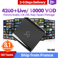 IPTV France Arabic Italy SUBTV Android 8.1 Leadcool S2 1+8G Support 4K 2.4GHz WIFI 1 Year IPTV Code France Arabic IP TV Receiver