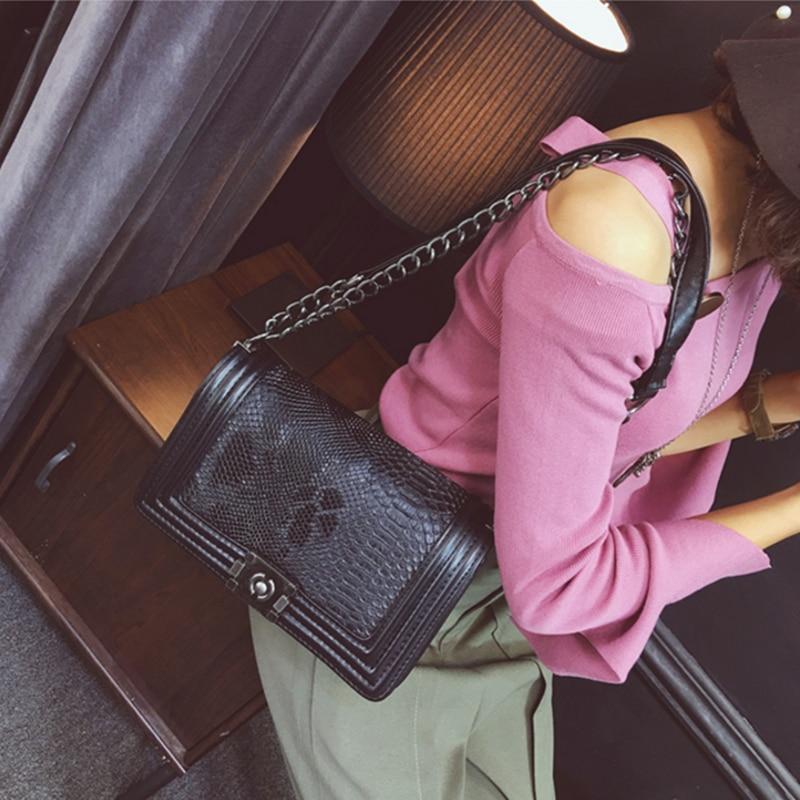 Invierno de La Vendimia de La Cadena de Moda de Lujo Bolsos de Diseño Bolso de L