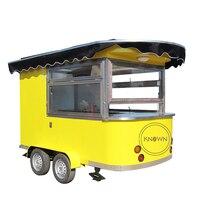 Hot sale unique design outdoor coffee food truck mobile food cart food kiosk