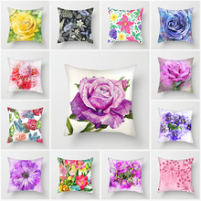 Fuwatacchi Aquarelle Flowers Rose Pillow Case Home Throw Pillows Soft Decorative Cushion Cover for Sofa Chair Covers 2019