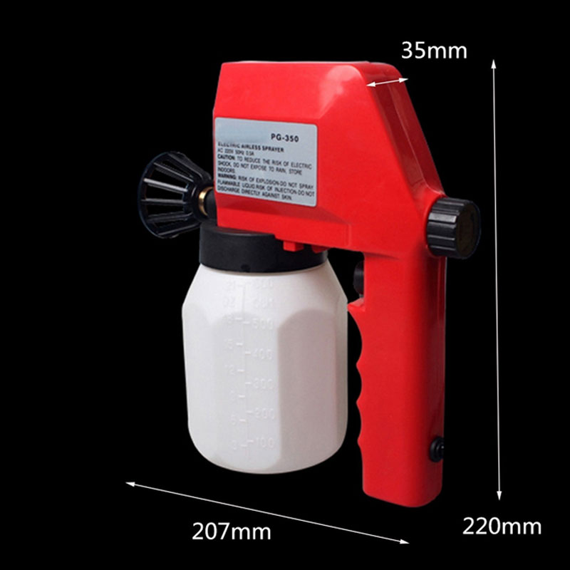 цена на 600ml Electric Airless High Pressure Spray Gun Sprayer House Room Painting Tool