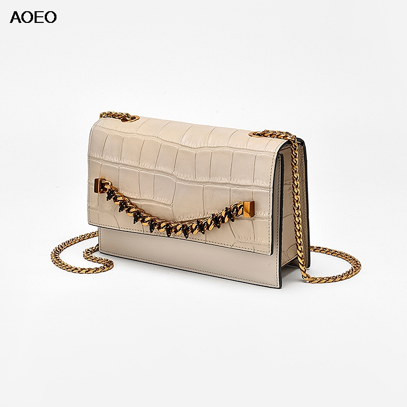 XMESSUN Genuine Leather Ladies HandBag Vintage Crocodile Pattern Shoulder Messenger Tassel Bags Designer Crossbody Bag Hot