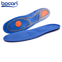 BOCAN Silicone Gel Insoles Sports Running insoles Massaging Shoe inserts Pad Shock Absorption for men women 8002