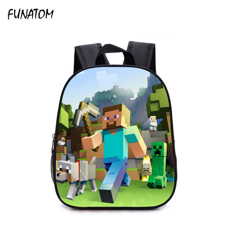 children Backpack Kindergarten Backpack Boy Cute MineCraft Cartoon Backpack Hot Game Backpack School Bags for Boys and Girls hot sale girls boys cartoon children school bags cute drawstring masha