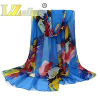 6 Color Printing Cotton Yarn Bali Winter Scarf Lady Warm Shawl 180x90cm Ponchos De Inverno Mulher