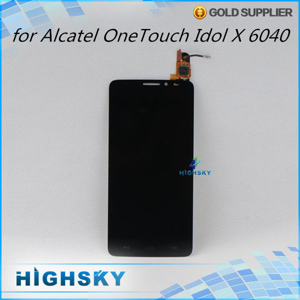 1 piece free shipping display with touch digitizer for Alcatel One Touch Idol X 6040 6040A 6040D lcd screen