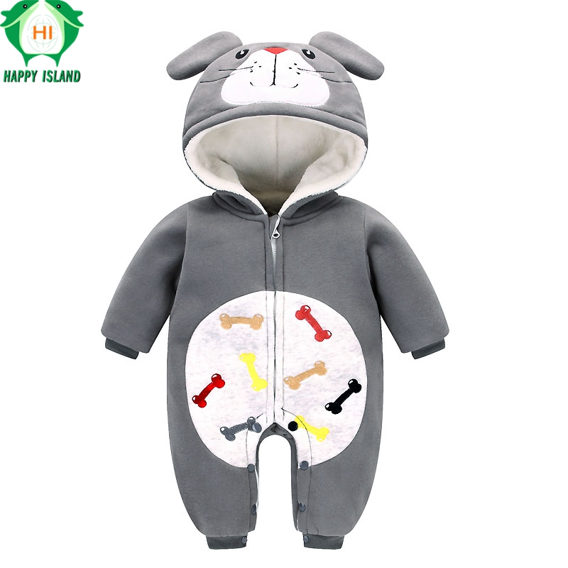 HAPPY ISLAND Autumn 0-24M Newborn Baby Clothes Flannel Boy Clothes Cartoon Anpanman Jumpsuit Baby Girl Rompers Baby Clothing autumn baby rompers brand ropa bebe autumn newborn babies infantial 0 12 m baby girls boy clothes jumpsuit romper baby clothing