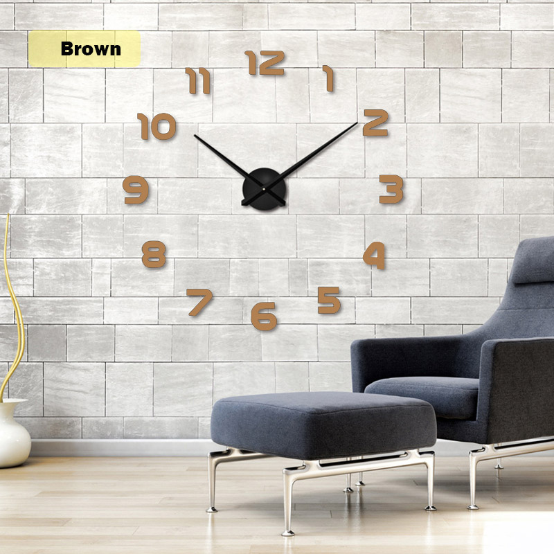 2019 muhsein Große Wanduhr Horloge 3d Diy Acrylspiegel Aufkleber - Wohnkultur - Foto 5