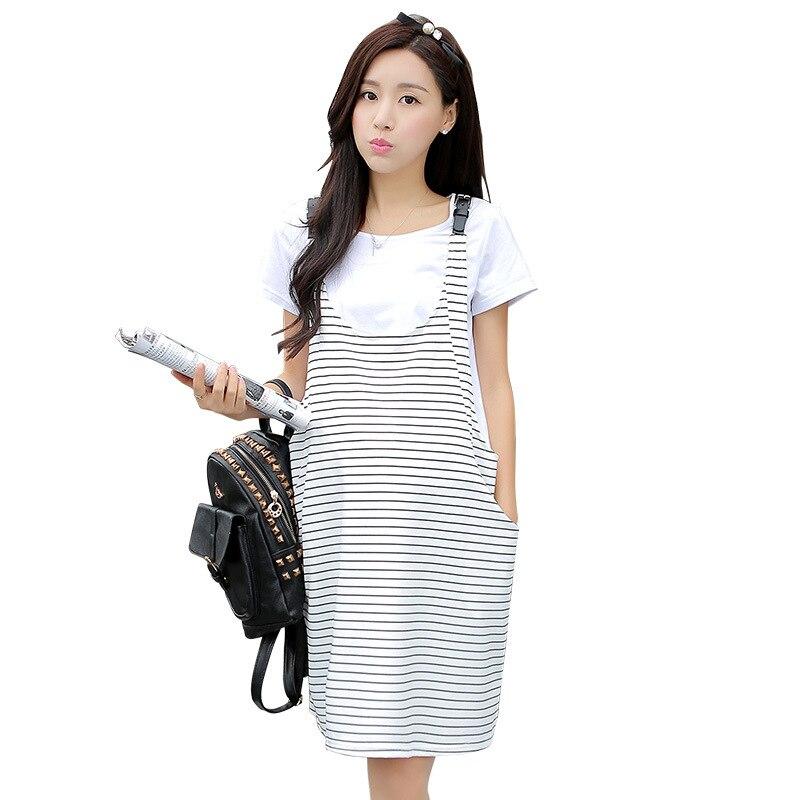 9975c85e2c2b Nuova estate di maternità abiti abiti banda e magliette dei vestiti in  gravidanza vestiti di maternità set due pezzi 16374