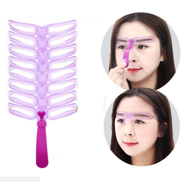 Reusable Eyebrow Model Template Eyebrow Shaper Defining Stencils Makeup Shaper Set Template Tools