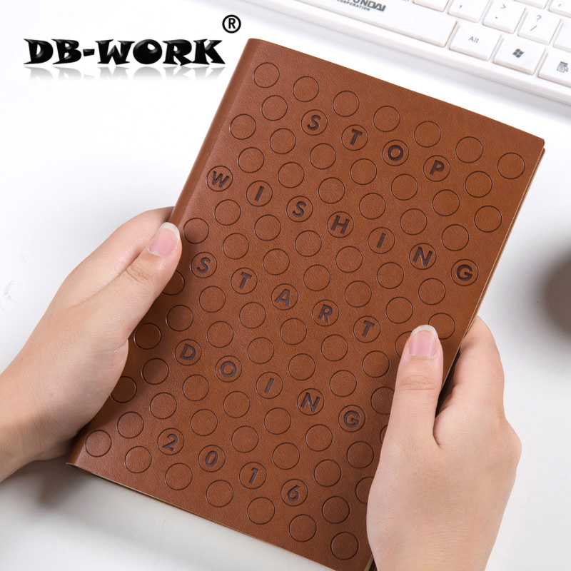 2017 Business Leather Notebook Efficient office efficiency manual business note book notepad business efficiency for dummies