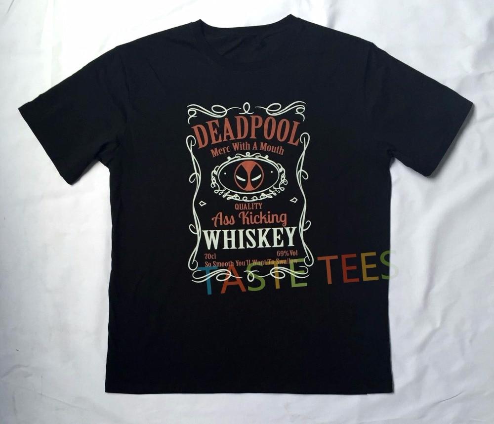 Ξsummer d print rock deadpool ∞ t shirt men hip hop