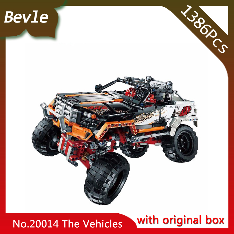 Bevle Store LEPIN 20014 1386Pcs with original box Technic Series Remote control drive off-road vehicles Building Blocks 9398