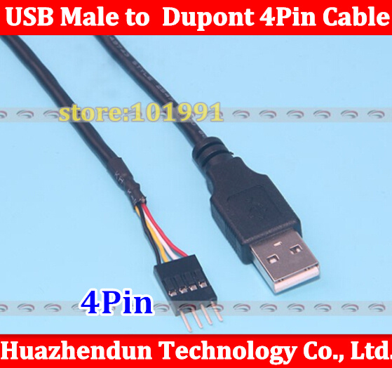 10pcs 50CM PC Computer Host Case Chassis USB A Male to Motherboard Mainboard Dupont Single Row 4Pin Male Adapter Converter Cable