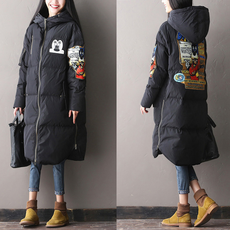 Clearance--- 2016 female winter Korean Multi Pocket  super warm loose hooded coat long down jacket