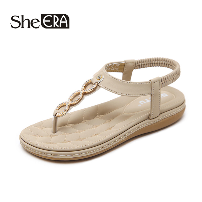 New Fashion Women Sandals Metal Decoration Crystal Sandals Women Casual Breathable Sandals Classic Women Shoes She ERA in Women 39 s Sandals from Shoes