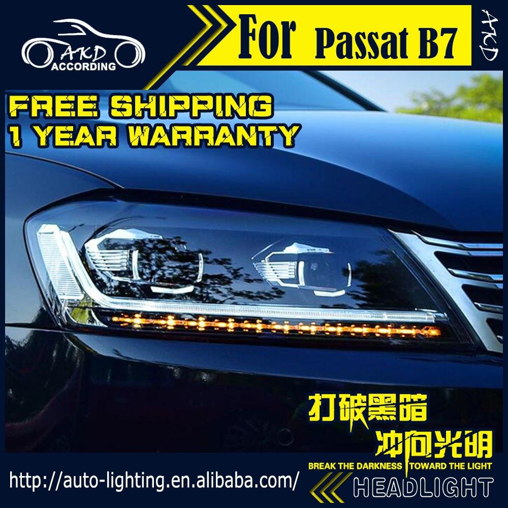 AKD Car Styling Headlight Assembly for Passat B7 Europe Headlights Bi Xenon LED Headlight LED DRL