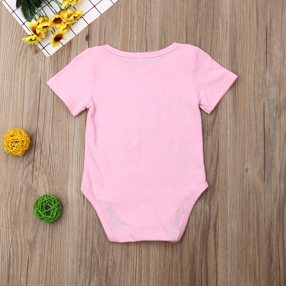 0 18M Newborn Infant Baby Girls Boys Short Sleeve Letter Print Bodysuit Toddler Basic Summer Cute Casual Clothes Kids Outfit in Bodysuits from Mother Kids