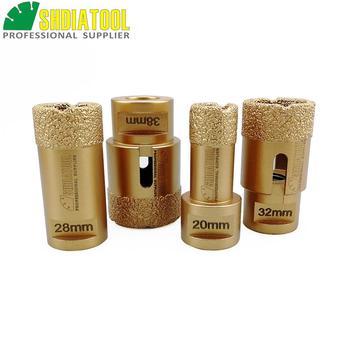SHDIATOOL 4pcs/set 20/28/32/38mm Vacuum brazed diamond drilling core bits  porcelain tile hole saw granite M14 Thread drill bits