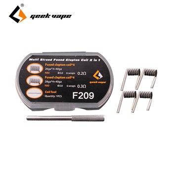 8pcs GeekVape N80 Strand Fused Clapton Wire 2 In 1 (6 Wraps) with (26GA*3+40GA ) & (28GA*4+40GA)  for RDA/RTA/RDTA Build Wire