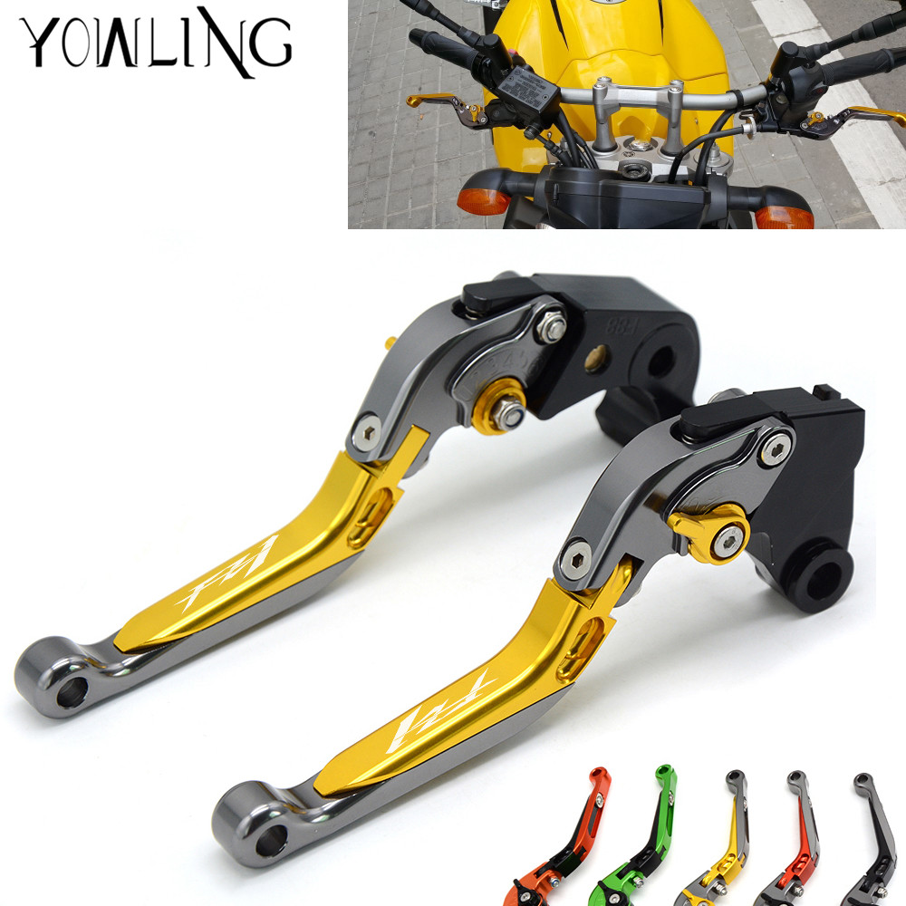 with Logo FZ1 Adjustable Motorcycle Brake Clutch Levers for Yamaha FZ1 FAZER 2006 2007 2008 2009 2010 2011 2012 2013 2014 2015 cnc billet adjustable long folding brake clutch levers for yamaha fz6 fazer 04 10 fz8 2011 14 2012 2013 mt 07 mt 09 sr fz9 2014