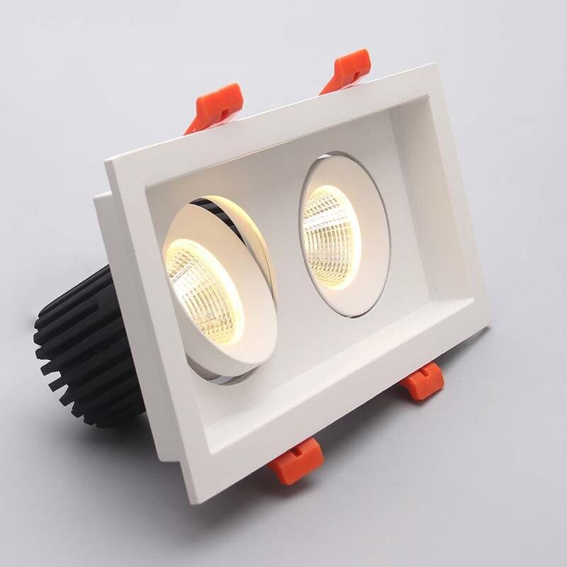 ultrabright levou downlight 2x10 w cob led spot light para sala de estar lampada do teto