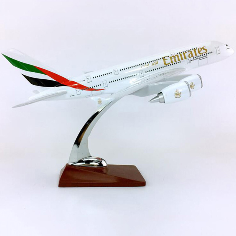 30CM 36CM 1 250 Scale Airbus A380 800 model United Arab Emirates airline with alloy base