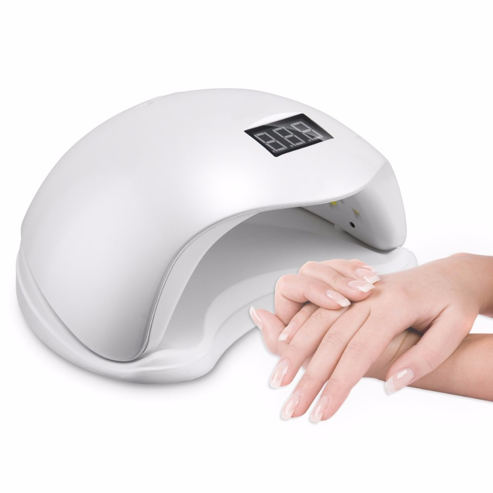 48w Sun5 LED UV Nail Lamp Automatic Turn on and off Sensor Professional Pedicure Manicure Dryer Light Machine LCD Display Screen makartt ultrared automatic sensor nail dryer warm