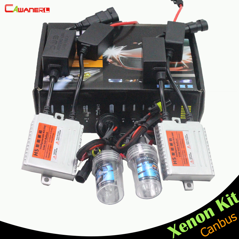 Cawanerl 880 881 55W Canbus Xenon Ballast Bulb Error Free HID Kit AC 3000K-15000K Car Headlight Fog Light Daytime Running Lamp