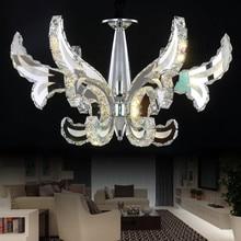 Dimmer Remote Control  LED 48W 8 light K9 Crystal Chandelier Lihting Transparent 110-240v Size:80*80*82cm