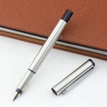 Punta financiera 0,5mm pluma muy fina Acero inoxidable cuerpo clásico escuela Oficina papelería