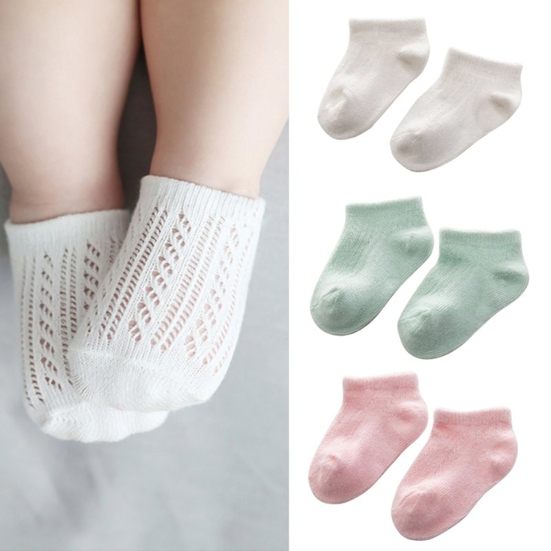 Soft Newborn Baby Solid Socks Cute Infant Kids Boys Girls Hollow Out Breathable Cute Comfort Ankle Socks