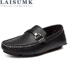 LAISUMK Comfortable Casual Shoes Loafers Men Shoes Quality Genuine Leather Shoes Men Flats Hot Sale Moccasins Shoes все цены
