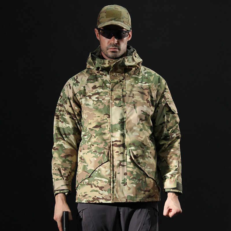 狩猟 Camuflage 2 で 1 ウインドブレーカー ACU 男性の戦術ジャケットミリタリーソフトシェルフリースハイキング釣りジャケット防水