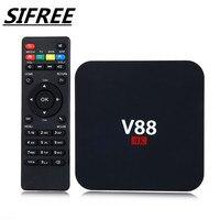 SIFREE 5PCs V88 4K Android 5 1 Smart TV Box Rockchip 1G 8G 4 USB 4K