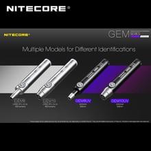1pc best price Nitecore GEM8 gem shine infinitely Variable precious stones professional flashlight identification with ultravi