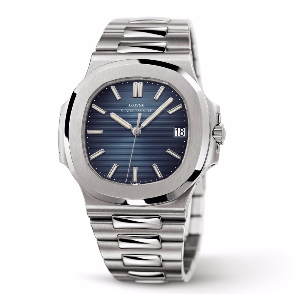 LGXIGE Mens Watches Top Brand Luxury Watches Men Quartz Steel Army Patek Watches Chronograph AAA Male Nautilus Wrist Watch 2019