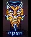 Kunden Offenen Teufel Tattoo Glas Neon Licht Zeichen Bier Bar-in Neonröhren & Röhren aus Licht & Beleuchtung bei