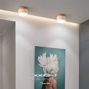 Image 5 - [DBF] Amaretto di Ferro + Superficie di Legno Montato A Soffitto Da Incasso 5W 12W HA CONDOTTO LA Luce del Punto del Soffitto AC110/220V per la Cucina Living room Decor