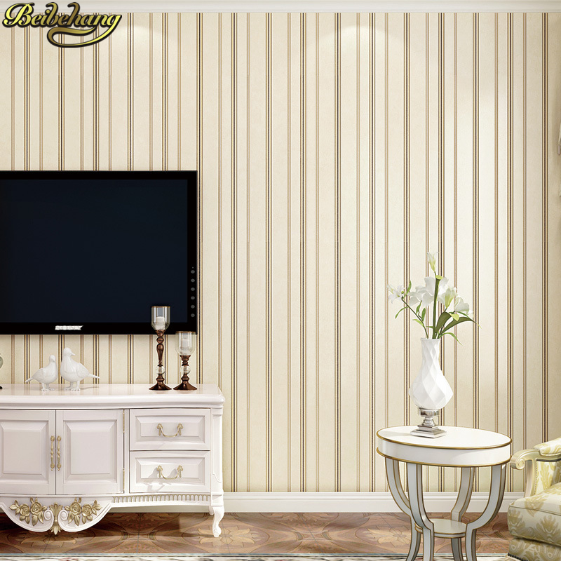 plain living wall bedroom background decor bright vertical tv minimalist sofa stripe modern papers 3d papel parede metal paper
