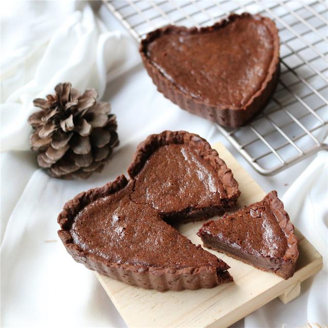 Mini Quiche/Tart Heart Shape Pie Cases (4)