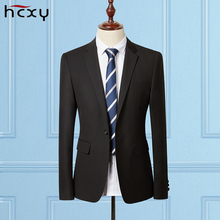 High-end men's Business blazers a jacket men's Large size Work clothes black business suit autumn and winter jackets coat male