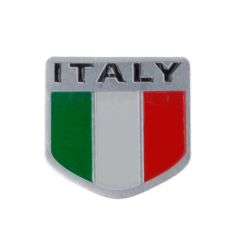 Detail Feedback Questions About Aluminum Italian Flag Car Sticker