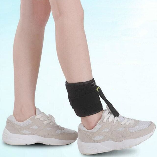 1Pc Adjustable Foot Drop Orthotics Ankle Joint Support Brace Strap Use With Shoes Foot Elevator Poliomyelitis