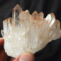 350G Natural raw quartz crystal cluster point Beautiful Mineral Specimen gemstone druse rough sample cluster fengshui decor