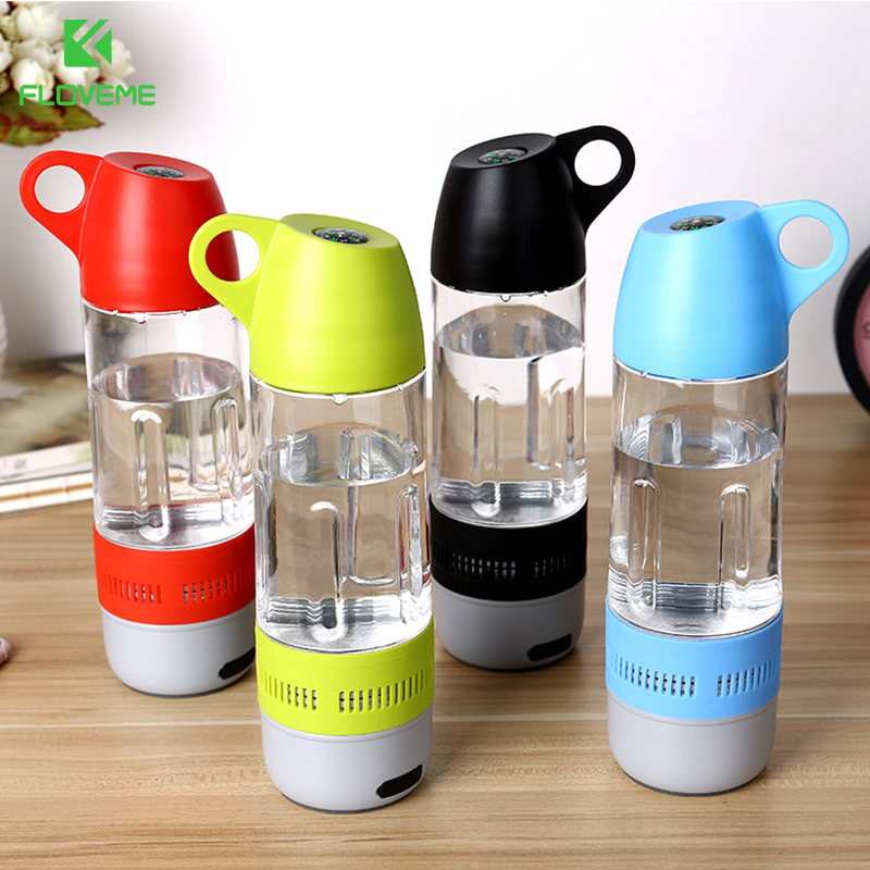 FLOVEME Design Water Bottle Mini Bluetooth Speaker Portable Cups Compass Wireless Speaker Outdoor Sound Stereo Music