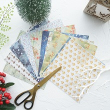 24 sheets DIY 12 style 15.2*15.2cm winter leaves elk star theme craft paper as scrapbooking creative handmade gift use