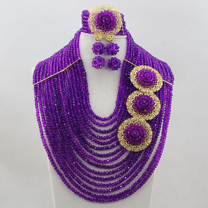 African Jewelry Sets Hot Selling Nigerian Wedding Necklace Unique Style Wholesale hx182African Jewelry Sets Hot Selling Nigerian Wedding Necklace Unique Style Wholesale hx182
